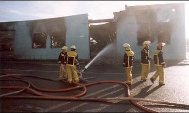 Factory fire, Moorabbin [picture].