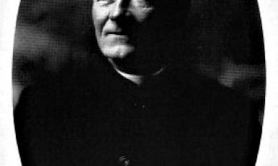 The Rev Alfred Caffin, Vicar of St Matthew's Cheltenham [picture].