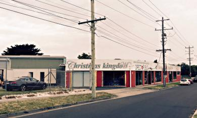 Site of original proposal to build shops on Nepean Highway , previously the site of a timber mill [picture].
