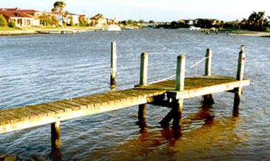 Jetty at Patterson Lakes 1997 [picture].