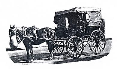 Horse drawn cab, as used at the Mentone Railway station to transport passengers to the Race Track [picture].