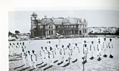Sports Day at St Bede's College, Mentone Hotel in the background [Picture].