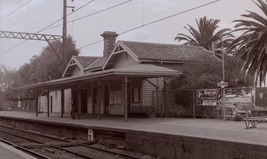 Cheltenham Railway Platform to Frankston, 1982 [Picture]