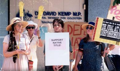 Protesters outside office of Federal Liberal MP, Dr David Kemp [picture].