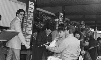 Bookies and punters at Mornington Races [photo]
