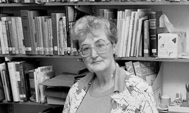 Regional Librarian Miss Shirley Perrett, 1989 [picture].
