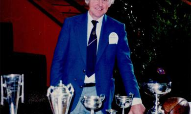 Leo Gamble at St Bede's Fiftieth Anniversary Celebration, 1988 [picture].