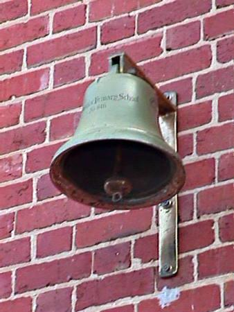 School bell on the wall of the Mordialloc Primary School [picture].
