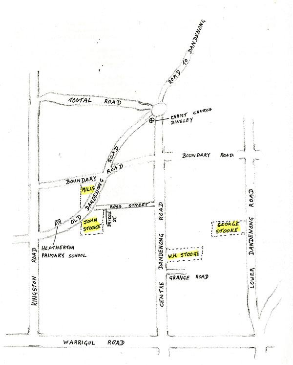 Sketch map of Heatherton farms, 1973