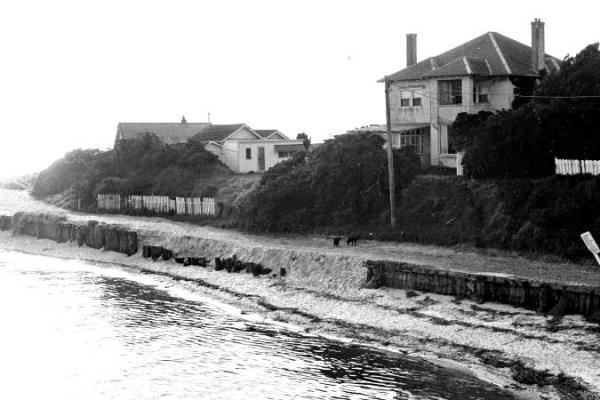 Erosion on the banks of the Patterson River, 1974 [picture].